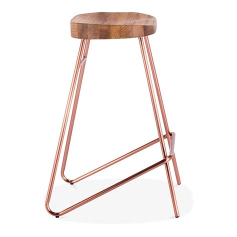 solid wood bar stools uk copper metal and solid wood norse bar stool modern bar