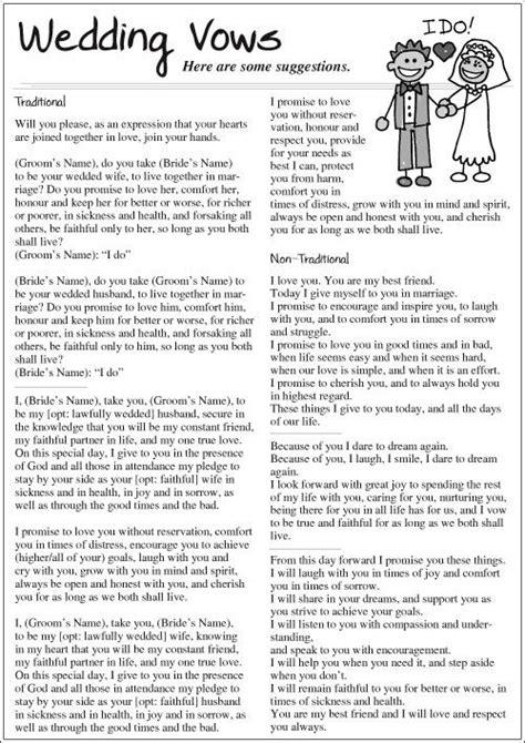 Wedding Vows Samples – Sample Vow Renewal Programs   poststrakou.over blog.com