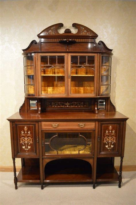 Mahogany Inlaid Late Victorian Antique Chiffonier at 1stdibs
