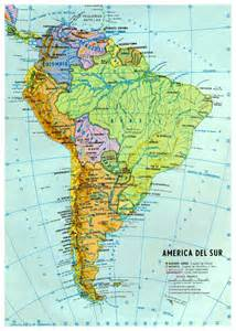 map of south america cities large detailed political and hydrographic map of south