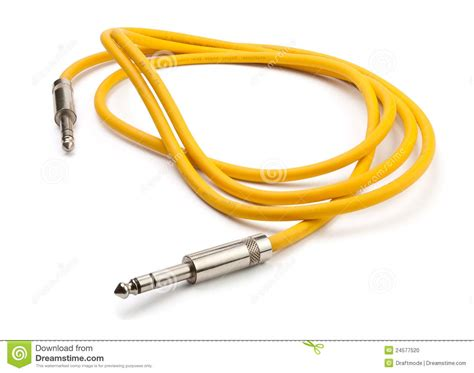 yellow electrical cable yellow electric guitar cable stock photo image 24577520
