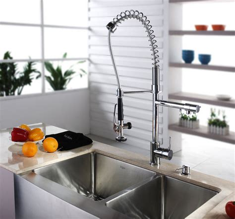 Kraus 1602 Faucet by Kraus Kpf 1602 Commercial Style Pre Rinse Kitchen Faucet