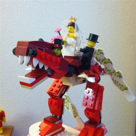 Lego T REX wedding cake topper   wedding   Pinterest