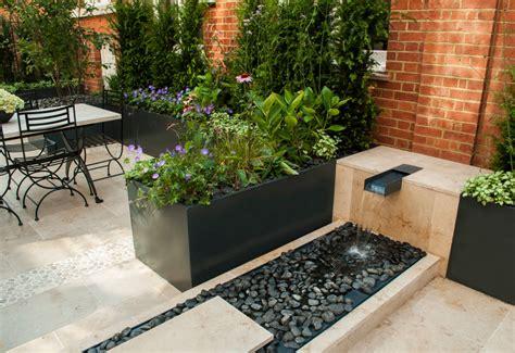 imagenes de jardines minimalistas pequeños 10 dise 241 os de fuentes para jardines modernos