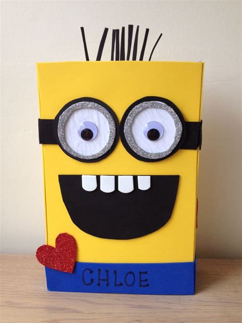 how to make a minion valentines day box 17 best images about valentines on valentines