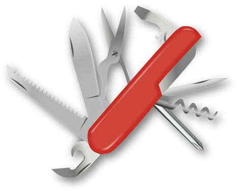 swiss blade knife free vector graphic swiss army knife pocket knife free