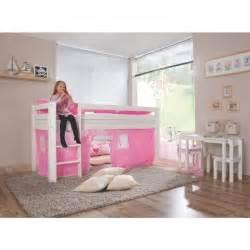 lit mezzanine pour coloris et blanc achat