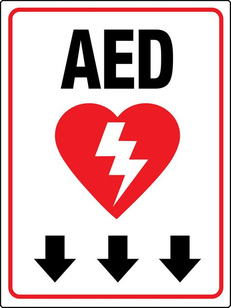 aed below wall signs phs safety