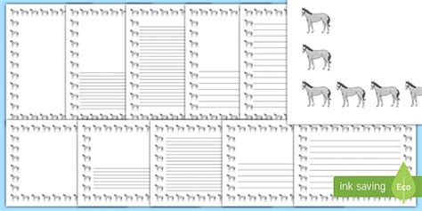 lined paper with horse border horse page borders portrait page borders page border