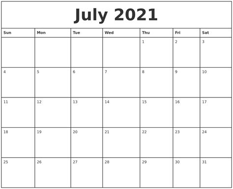 printable monthly calendars with pictures july 2021 printable monthly calendar