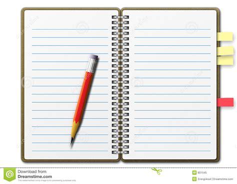 Agenda Note Book note book 01 stock illustration illustration of pencil