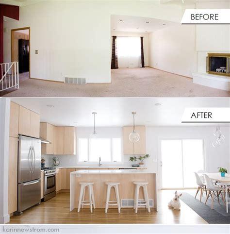 standard split level to open floor plan split level