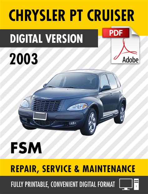 best car repair manuals 2003 chrysler pt cruiser electronic valve timing 2003 chrysler pt cruiser factory repair service manual ebay