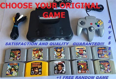 N64 Console For Sale Original Nintendo 64 Console 1 Controller Choose Your
