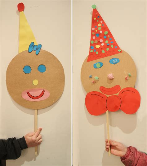 How To Make A Paper Clown - make a mask for purim from a of cardboard