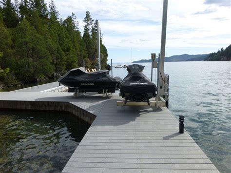 jet ski boat dock lift tide tamer swinger pwc lift for dock and seawall mount