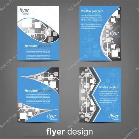 set of business flyer template corporate banner cover