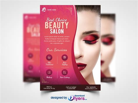 flyers layout template free salon flyer template free psd 1