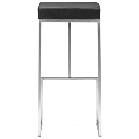 Stainless Steel Backless Bar Stools by Darwen 30 Quot Backless Bar Stool Stainless Steel Black