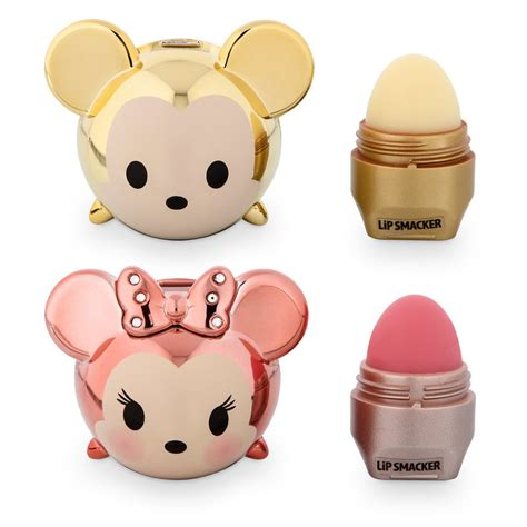 Lip Smacker Tsum Tsum Mickey gold mickey and minnie tsum tsum lip smacker set available
