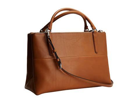 coach borough bag retro leather ue camel shipped free at