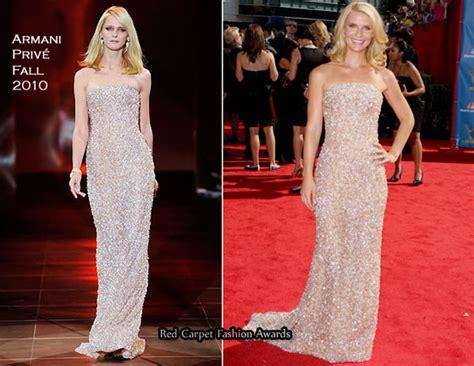 Catwalk To Carpet Emmy Awards by 2010 Emmy Awards Danes In Armani Priv 233