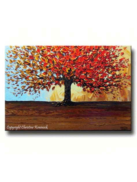 custom original art abstract painting red tree of life