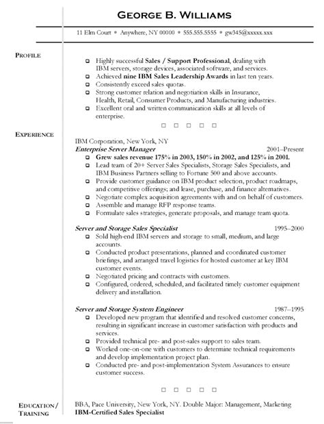 Resume Templates For Servers resume for servers