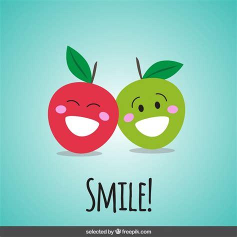 imagenes animadas felices manzanas felices de dibujos animados descargar vectores
