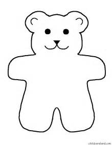 Printable Teddy Template teddy stencil printable