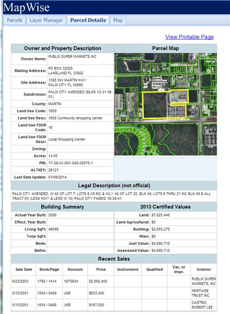State Property Records Florida Property Appraiser Parcel Maps And Property Data