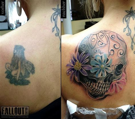 skull cover up tattoo 7 skull cover up tattoos
