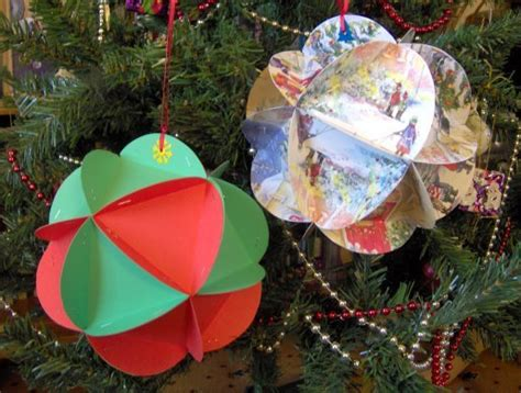 How To Make A Paper Bauble - things to make and do baubles