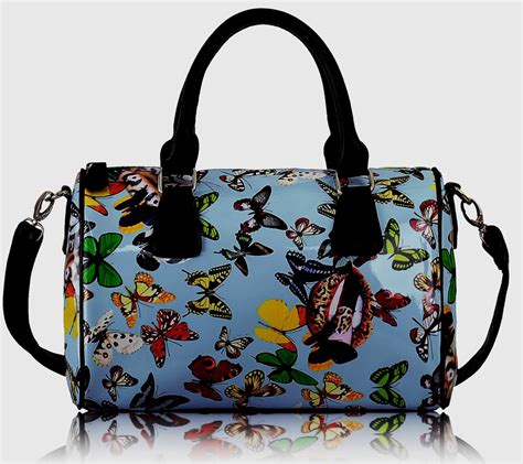 Butterfly Bag wholesale blue butterfly tote handbag