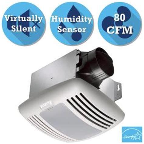 bathroom exhaust fan with humidity sensor and light delta breez greenbuilder series 80 cfm ceiling exhaust