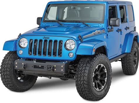 jeep metal bumper mickey thompson 90120418 metal s1 front bumper for 07 17