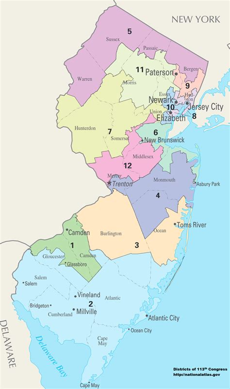 congressional districts map new jersey s congressional districts