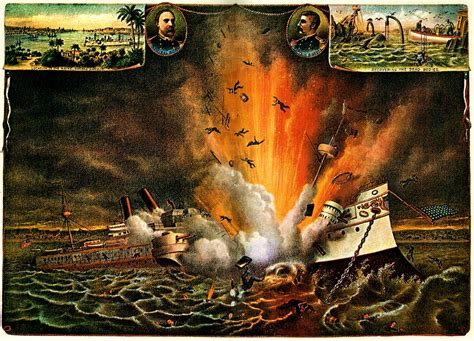 The Sinking Of The Maine by U S S Maine Spanish American War