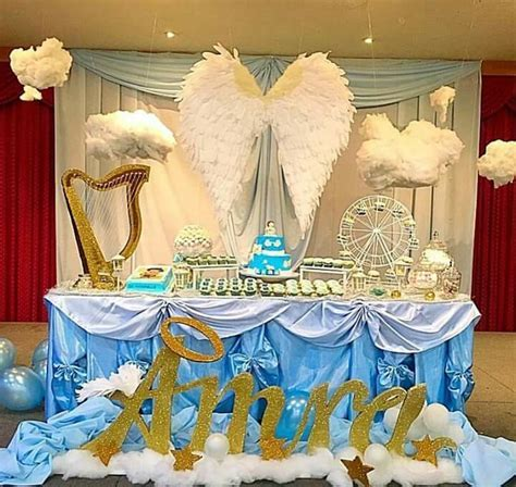 Angel theme party   A Party Popping Spree   Angel baby