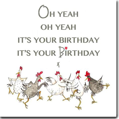 Chicken Birthday Card Bhwt Birthday Cards
