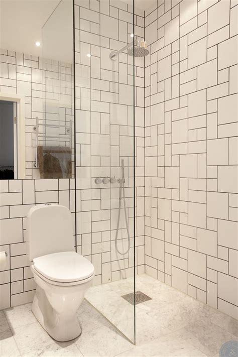 bathroom tiles arrangement tulegatan 5a love the graphic tiles bath pinterest