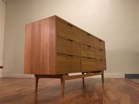 sold solid wood  drawer dresser modern  vintage