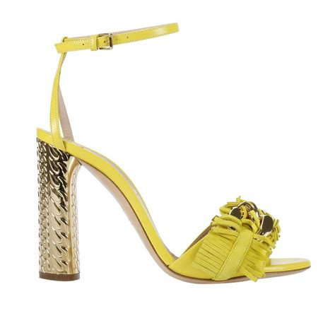 yellow heeled sandals casadei heeled sandals shoes in yellow lyst