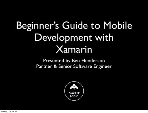 xamarin tutorial for beginners pdf codestock 2013 beginner s guide to mobile development