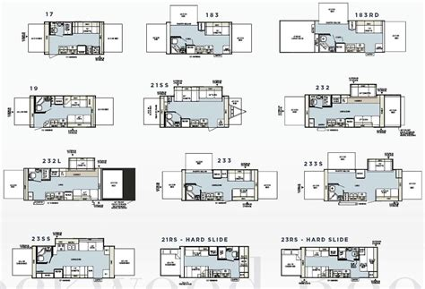 Rockwood Trailer Floor Plans | forest river rockwood roo expandable travel trailer