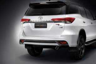 Auto Upholstery Philippines Toyota Fortuner Trd Sportivo Unveiled Indian Cars Bikes