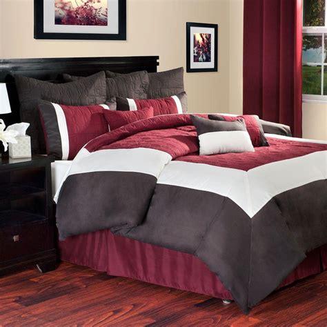 hotel comforter set lavish home hotel burgundy 10 piece king comforter set 66