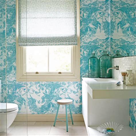 Bathroom Wallpaper Colors Five Ways To Add Color To A Bathroom Living In A Shoebox