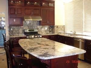 Granite Countertops With Cherry Cabinets Cherry Cabinets With Granite Countertops And Island Yelp