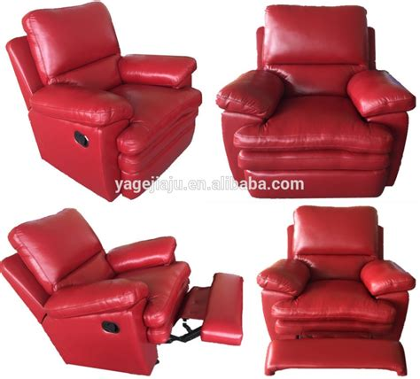 Living Room Wholesale Hot Sale Red Genuine Leather Lazy